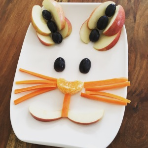 Funny Food, Foodart,Hase, Rabbit, Essen für Kinder, for Kids, Obstteller