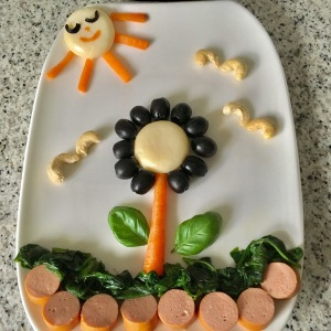 Funny Food, Foodart, Blume, Flower, Essen für Kinder, for Kids, Abendbrot, Frühstück