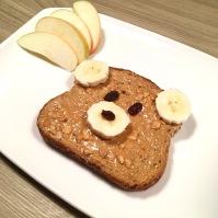 Funny Food, Foodart, Bär, Bear, Essen für Kinder, for Kids, Frühstück, Toast