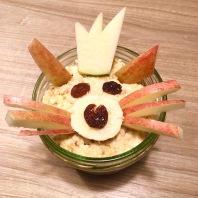 Funny Food, Foodart,Katze, Cat, Essen für Kinder, for Kids, Obst, overnight oats, Frühstück