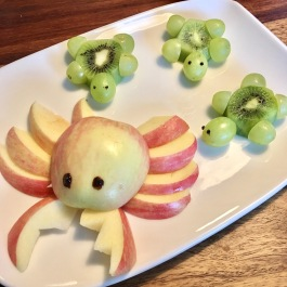 Funny Food, Foodart,Meer, Ocean, Krebs, Schildkröte, Turtles, Essen für Kinder, for Kids, Obstteller