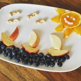 Funny Food, Foodart, maritim, Boote, Sommer, Essen für Kinder, for Kids, Obstteller
