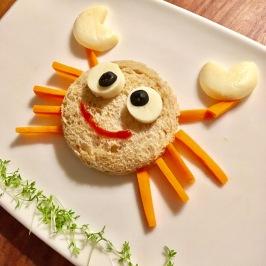 Funny Food, Foodart, Krebs, Crab, maritim, Essen für Kinder, for Kids, Abendbrot, Frühstück, Toast, Brot