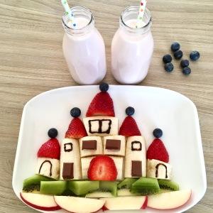 Funny Food, Foodart, Schloss, Castle, Essen für Kinder, for Kids, Obstteller
