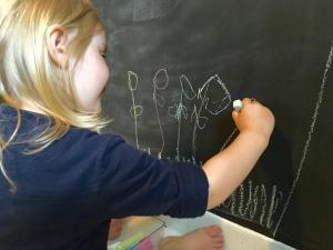 DIY, Wand, Tafelfarbe, wohnen mit Kindern