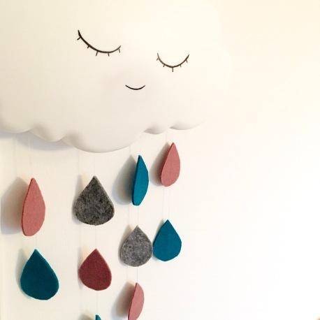 Wolkenlampe, DIY, Ikeahack, Kinderzimmer