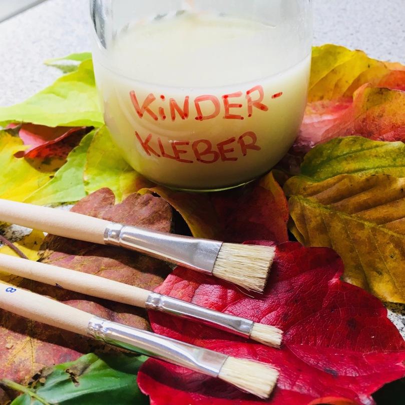 Naturkleber, basteln mit Kindern, DIY-Kleber