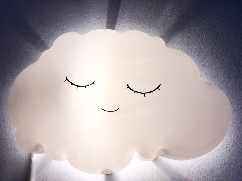 Wolkenlampe, Ikeahack, DIY, Kinderzimmer
