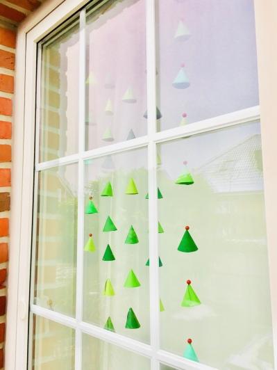 Fensterdeko Tannenbaum, DIY Kinderzimmer, Weihnachten