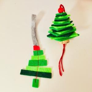 DIY Filz Tannenbäume, Baumschmuck selbermachen