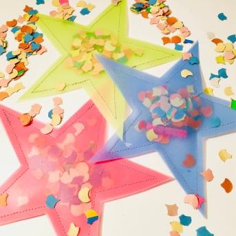 Konfettistern, Glück verschenken, Silvester, Glücksstern, DIY