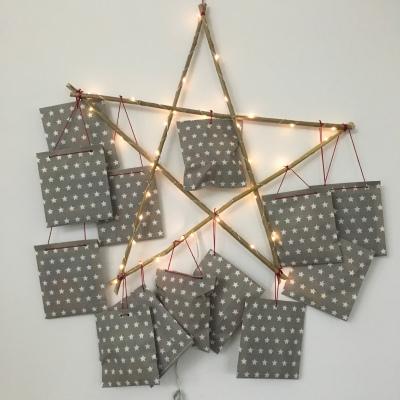 DIY, nachhaltig, Stern, Weihnachststern, Deko, Weihanchtsdeko, Adventskalender