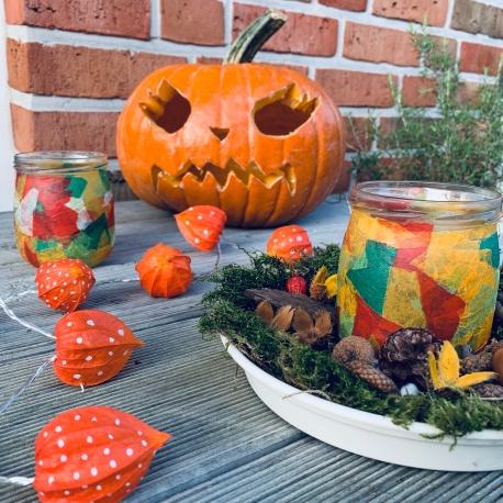Herbst, Herbstbasteln, basteln mit Kindern, basteln mit Naturmaterialien, DIY, Halloween, Halloweenkürbis