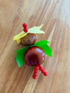 Herbst, Herbstbasteln, basteln mit Kindern, basteln mit Naturmaterialien, DIY, Katanienmännchen,