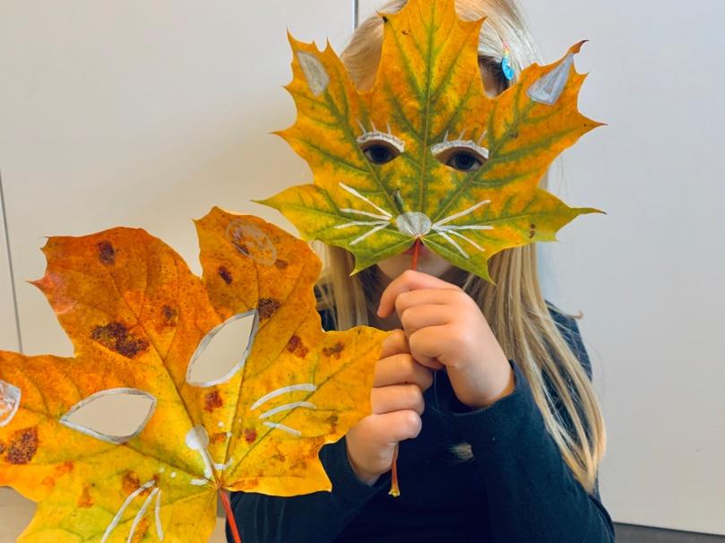 Herbst, Herbstbasteln, basteln mit Kindern, basteln mit Naturmaterialien, DIY, Tiermaske,