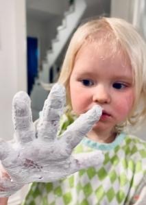 DIY, basteln mit Kindern, malen, Winterbilder,