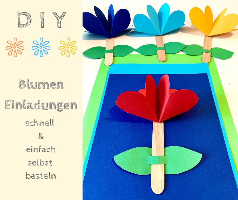 DIY, basteln, Kindergeburtstag, Einladungen, Motto, Party,