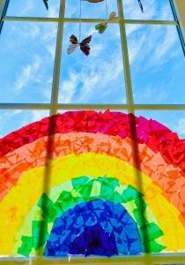 Fensterbild, basteln mit Kindern, Regenbögen gegen Corona, Bildersammlung, Regenbogen,