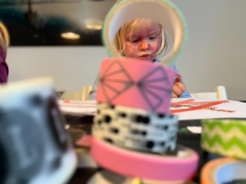 Washi Tape, basteln, basteln mit Kindern, Ostern, kinderleicht, Lastminute